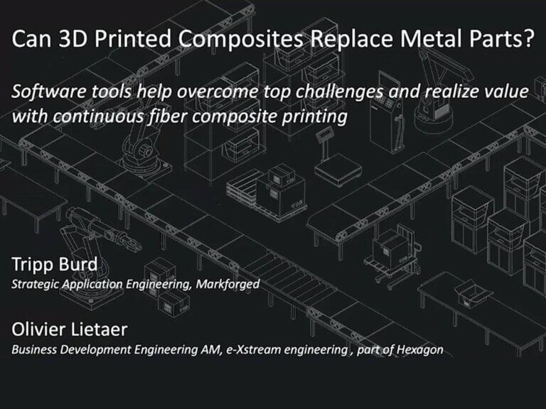 Môžu 3Dtlačené kompozity nahradiť kovové diely?