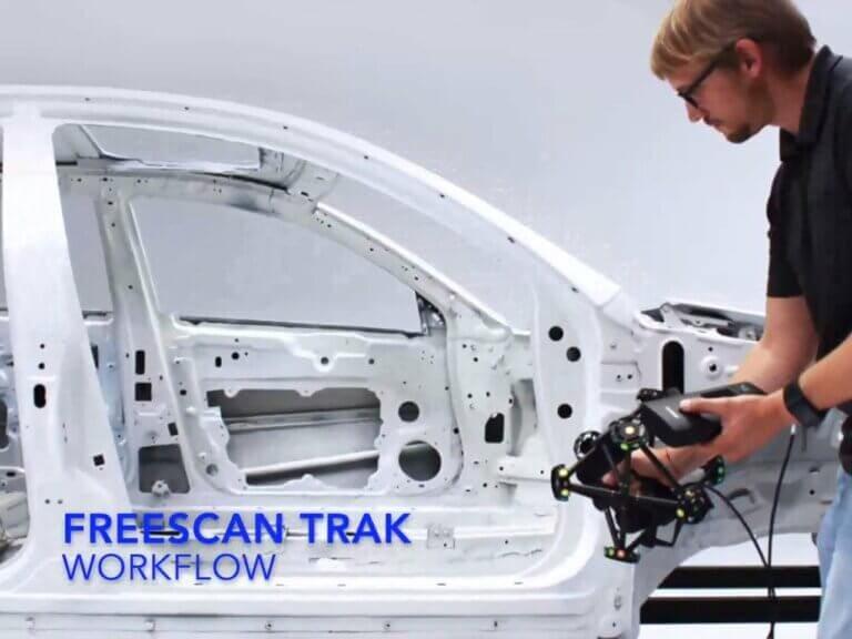 Veľkoformátové metrologické 3Dskenovanie sbezdrótovým riešením FreeScan Trek