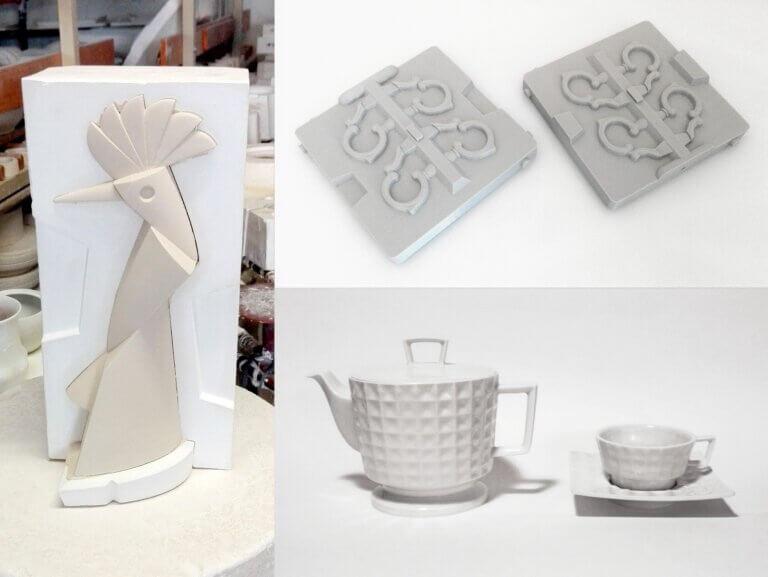 Originálny porcelán z3Dtlačených foriem